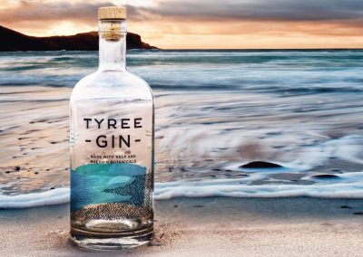 Tiree Gin Examples of decorated glass by Image on Glass